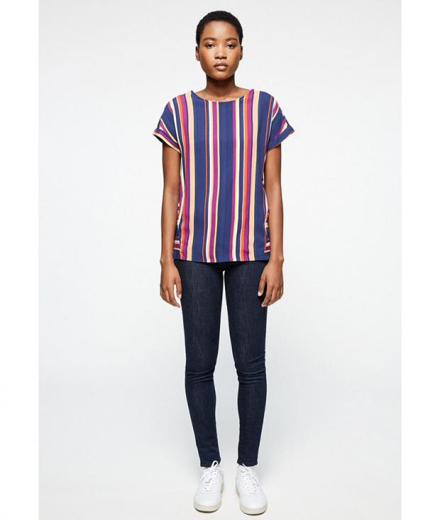 Lioraa Multicolor Stripes dark navy-carrot from Glore