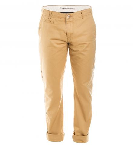 Knowledge Cotton Apparel Twisted Twill Chino Desert Sand