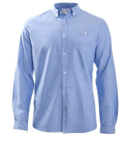 Knowledge Cotton Apparel Button Down Oxford Shirt Limoges