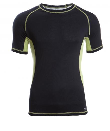 ENGEL SPORTS Shirt kurzarm Men black/lime | L