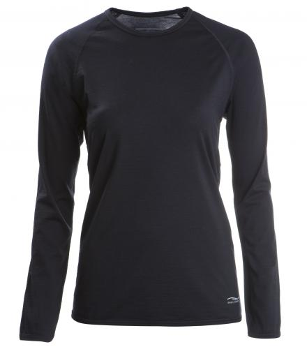 ENGEL SPORTS Shirt regular langarm Women black | M