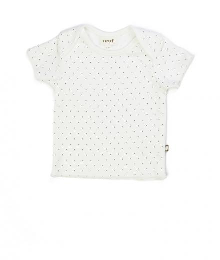 Oeuf Short Sleeve Tee Indigo Dots