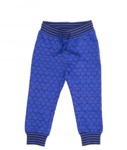 Mini Rodini Fish Scale Sweatpants Blue 80/86