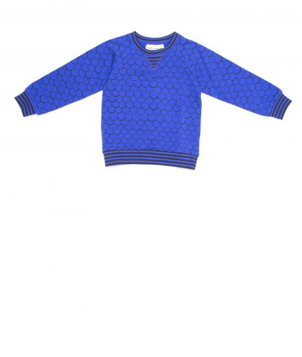 Mini Rodini Fish Scale Sweatshirt Blue 104/110