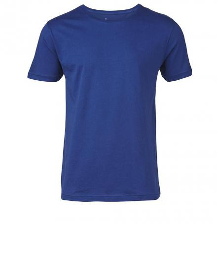 Knowledge Cotton Apparel Basic Regular Fit O-Neck Tee Estate Blue | M