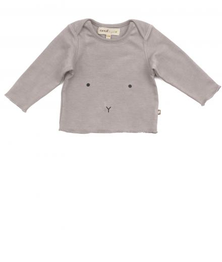 Oeuf Long Sleeve Tee 12M | light-grey