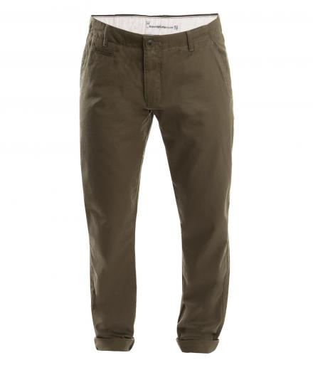 Knowledge Cotton Apparel Twisted Twill Chino Burned Olive