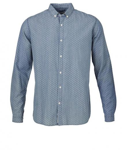 Knowledge Cotton Apparel Light Twill With Dot Effect