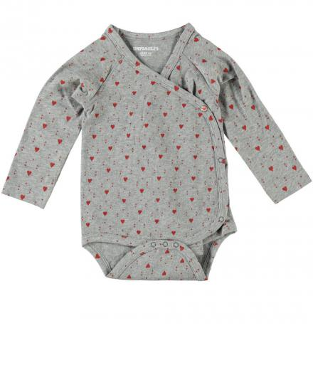 IMPS&ELFS Body Long Sleeve Hearts 56 | grey