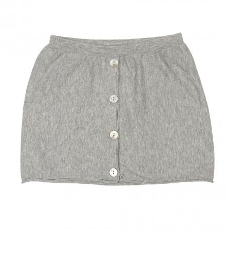 FUB Striped Skirt Light Grey 100