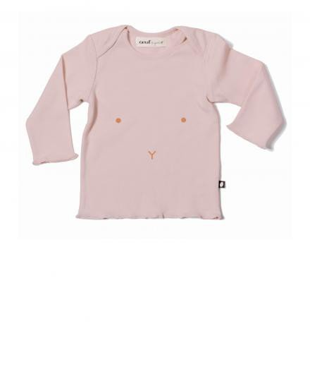 Oeuf Long Sleeve Tee pink | 12M
