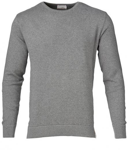 Knowledge Cotton Apparel Solid Col. Stripped Knit