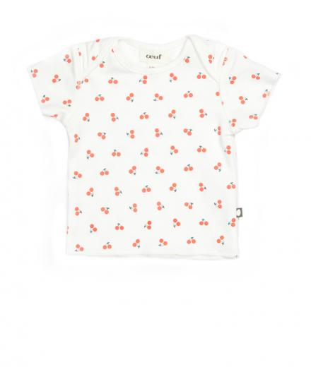 Oeuf Short Sleeve Tee Cherries 3M