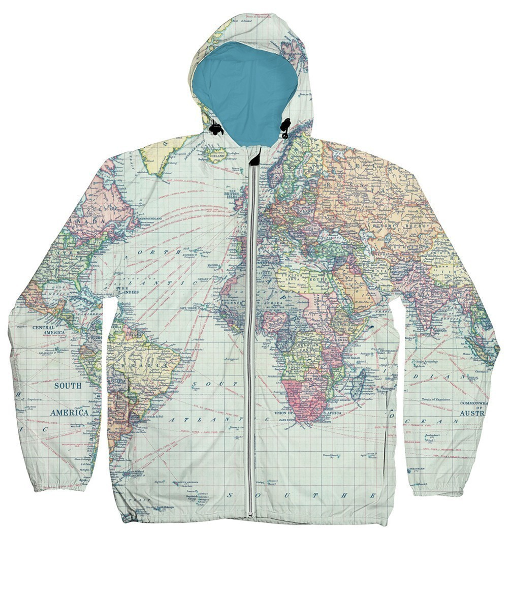 DEDICATED Windbreaker World Map • Jacken & Mäntel Jacken & Mäntel ...