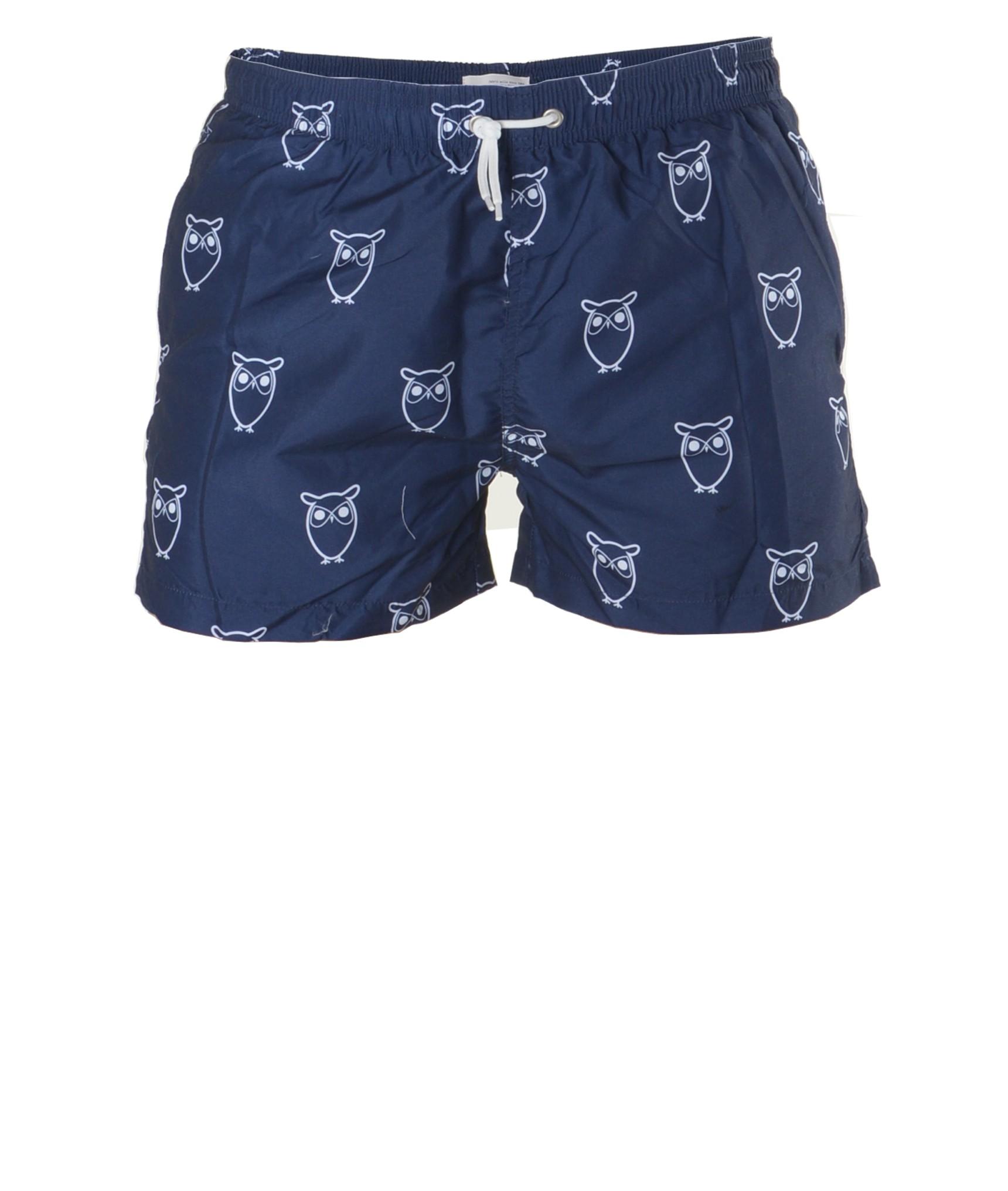 knowledge cotton apparel swim shorts w owl print bademode ko badeshorts f r m nner glore. Black Bedroom Furniture Sets. Home Design Ideas