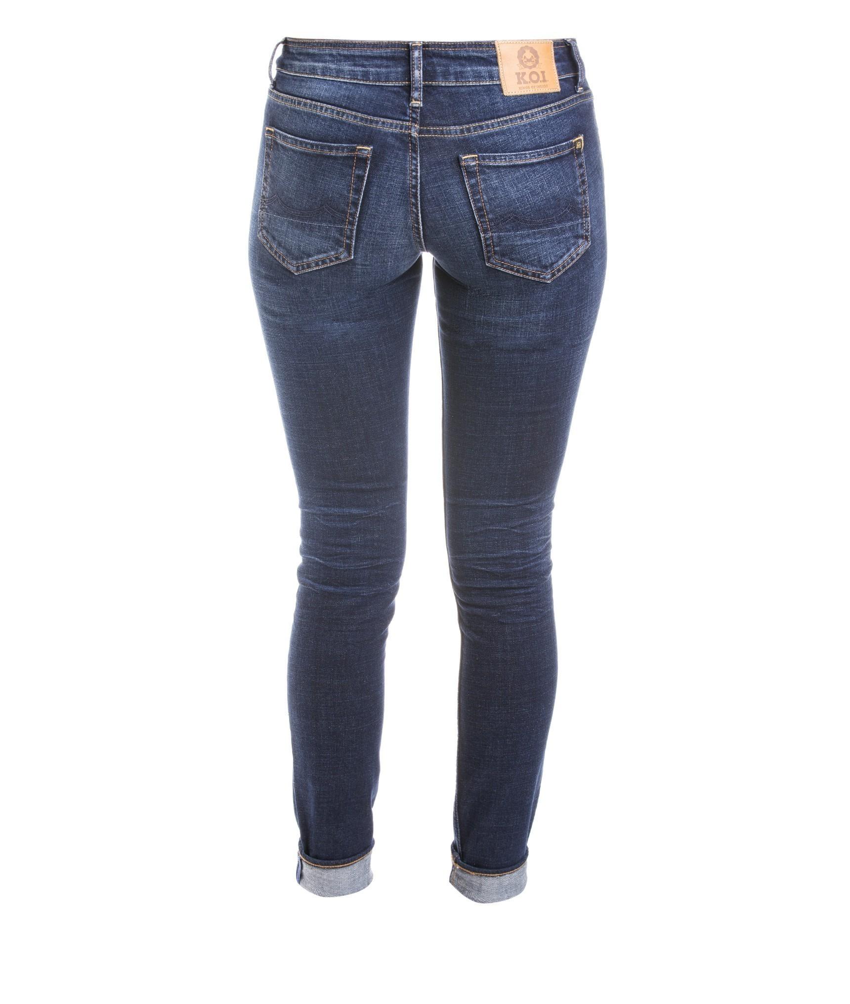 Kings of Indigo - K.O.I. Juno Dark Worn • Jeans Bio Jeans für Damen bei glore • glore