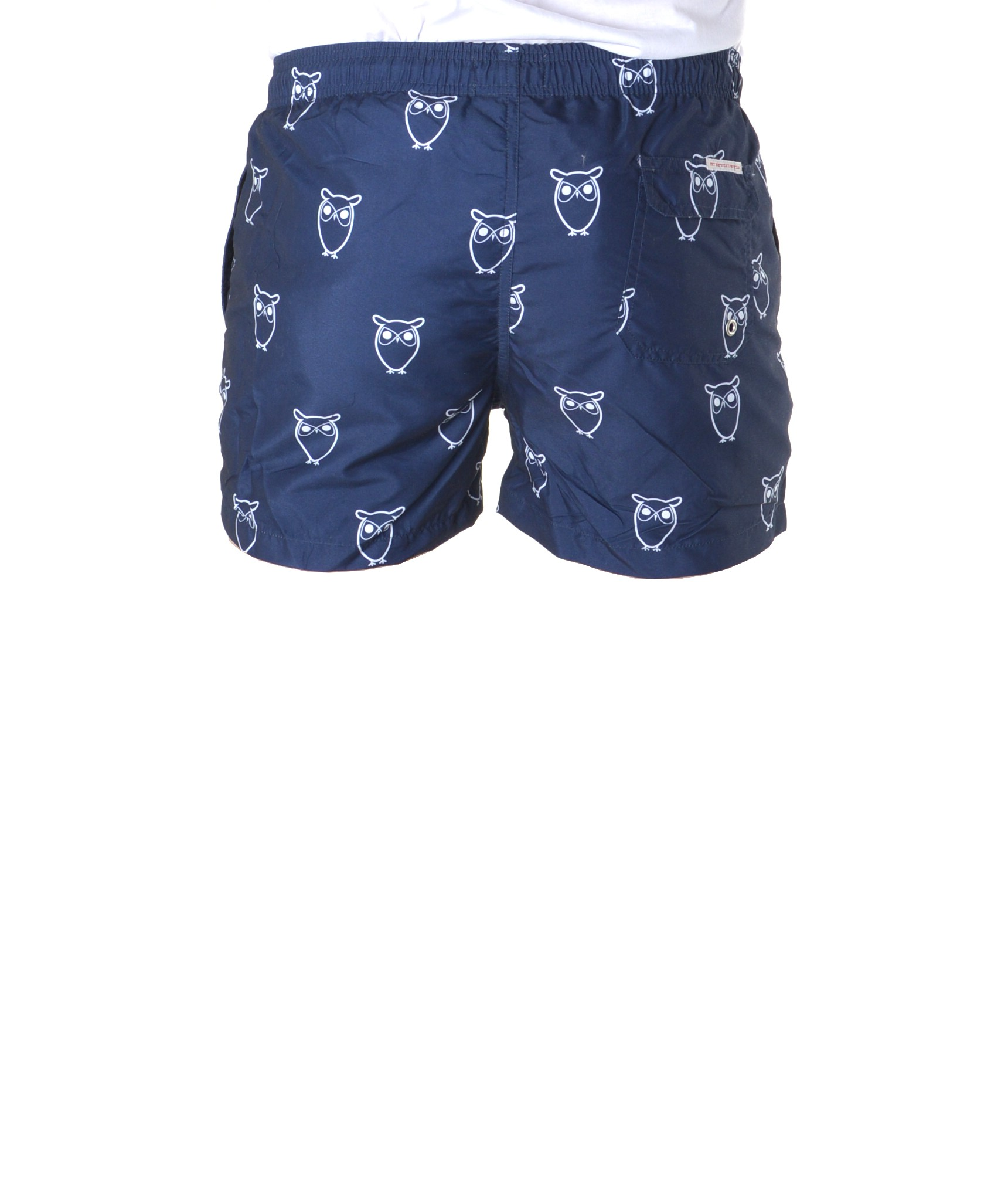 knowledge cotton apparel swim shorts w owl print herren glore. Black Bedroom Furniture Sets. Home Design Ideas