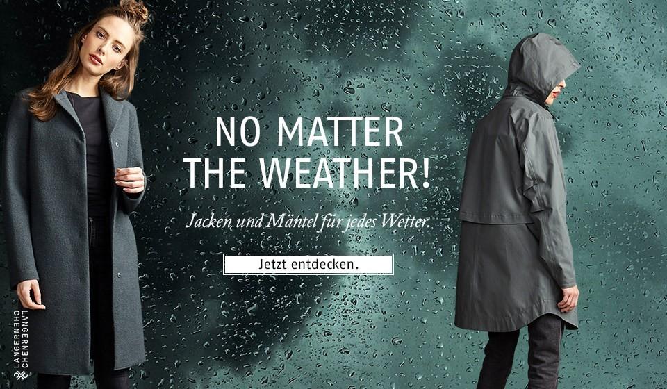 Jacken und Mäntel für jedes Wetter.