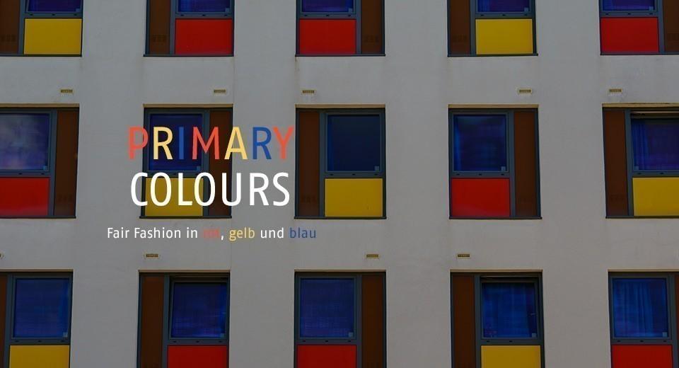 Fair Fashion in rot, gelb und blau